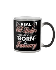 Real Cat Ladies Are Born In January Color Changing Mug thumbnail