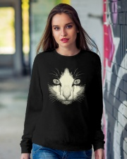 Black Cat Crewneck Sweatshirt lifestyle-unisex-sweatshirt-front-9