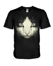 Black Cat V-Neck T-Shirt thumbnail