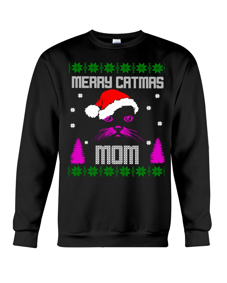 Merry Christmas Kitty Mom Crewneck Sweatshirt