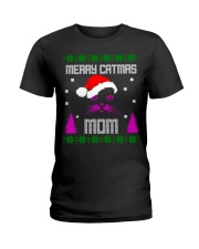 Merry Christmas Kitty Mom Ladies T-Shirt thumbnail