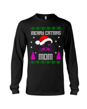 Merry Christmas Kitty Mom Long Sleeve Tee thumbnail