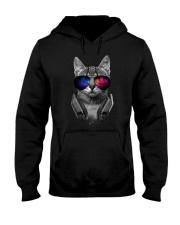 Music Lover Cat Hooded Sweatshirt thumbnail