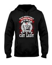 Cat Lady Nurse Hooded Sweatshirt thumbnail