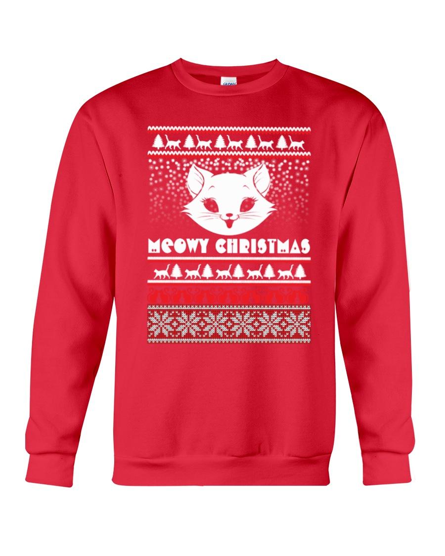 Meowy Christmas Tshirts Crewneck Sweatshirt