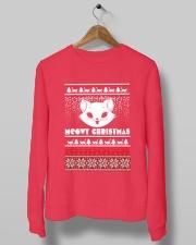 Meowy Christmas Tshirts Crewneck Sweatshirt lifestyle-unisex-sweatshirt-front-10