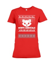 Meowy Christmas Tshirts Premium Fit Ladies Tee tile