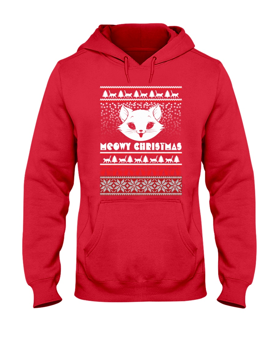 Meowy Christmas Tshirts Hooded Sweatshirt