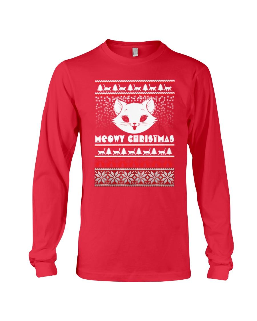 Meowy Christmas Tshirts Long Sleeve Tee