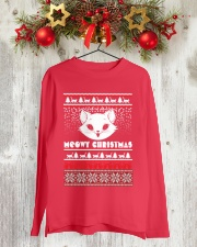 Meowy Christmas Tshirts Long Sleeve Tee lifestyle-holiday-longsleeves-front-2