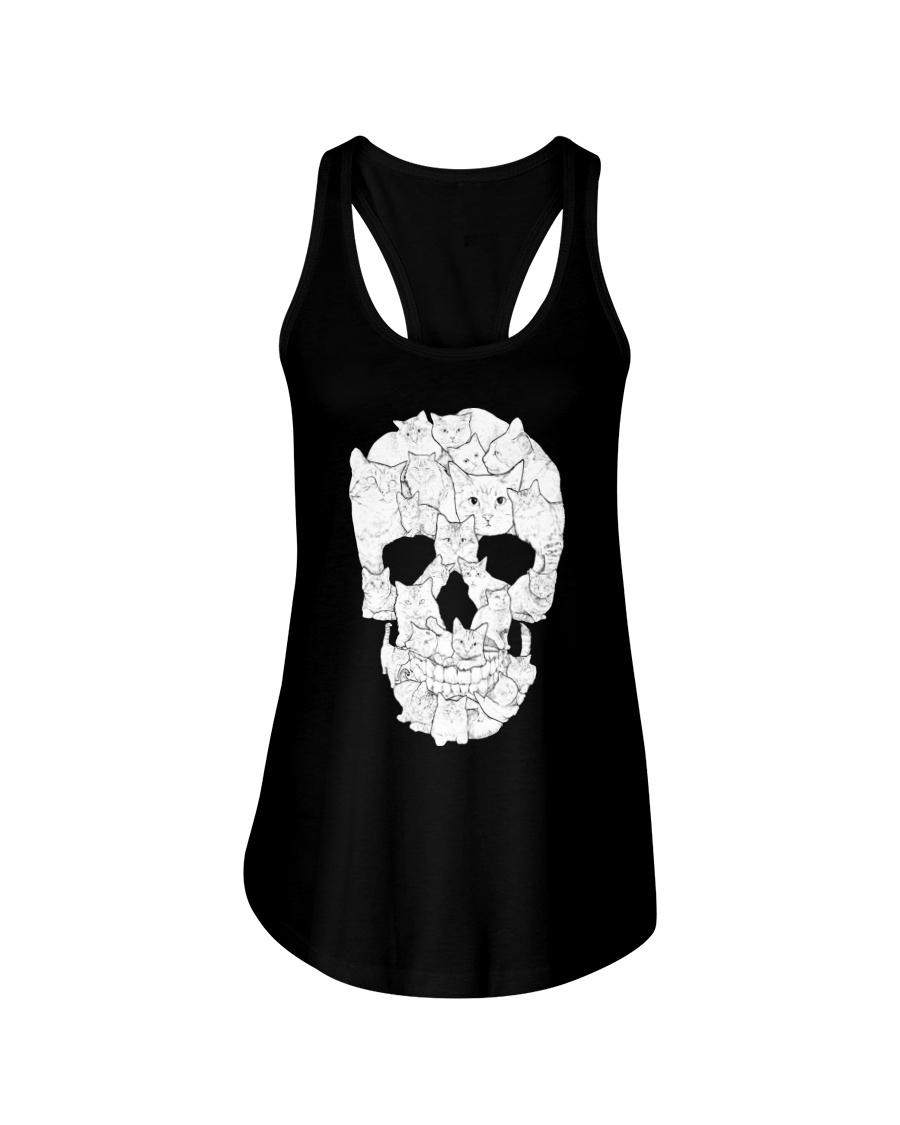 Cat Skull Ladies Flowy Tank