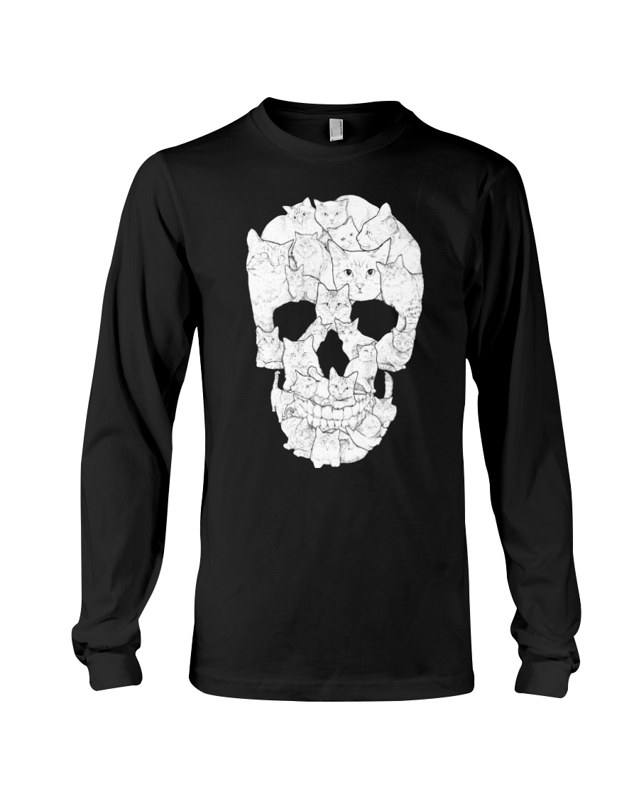 Cat Skull Long Sleeve Tee
