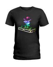 Cat DJ T-Shirt Ladies T-Shirt thumbnail