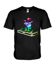Cat DJ T-Shirt V-Neck T-Shirt thumbnail