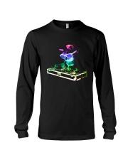 Cat DJ T-Shirt Long Sleeve Tee thumbnail