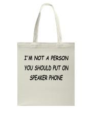 Speaker Phone Tote Bag thumbnail
