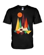 Mountain Bear V-Neck T-Shirt thumbnail