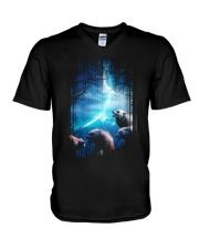 I Love Wolves V-Neck T-Shirt thumbnail
