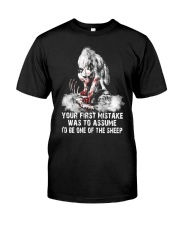 WOLF SHEEP MISTAKE  Classic T-Shirt front