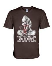 WOLF SHEEP MISTAKE  V-Neck T-Shirt thumbnail