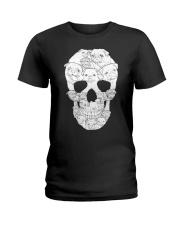 Pug Skull Ladies T-Shirt thumbnail
