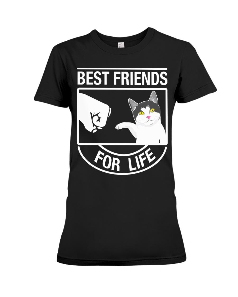 Best Friends For Life - Cat Premium Fit Ladies Tee