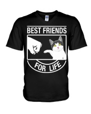 Best Friends For Life - Cat V-Neck T-Shirt thumbnail