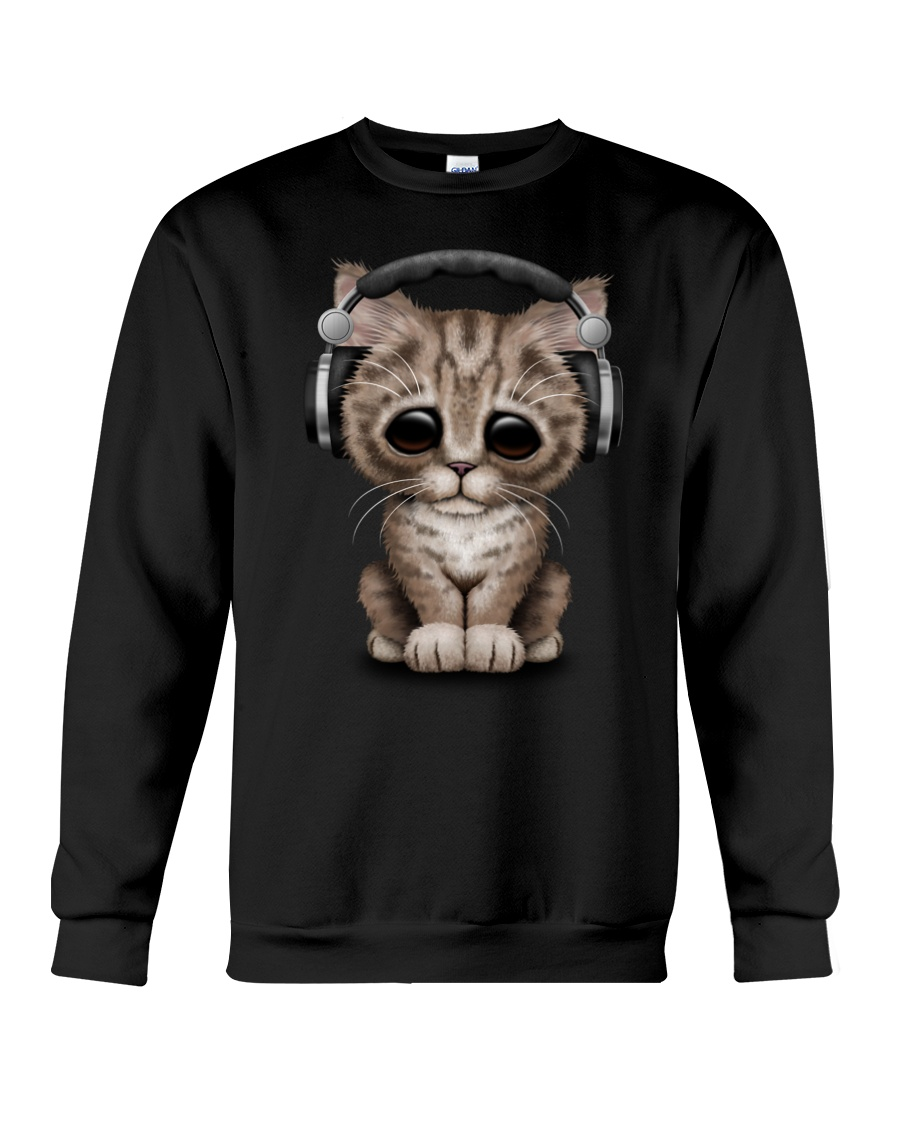 Cat Cute DJ Crewneck Sweatshirt