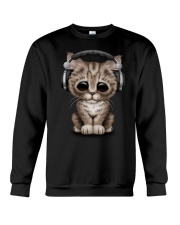 Cat Cute DJ Crewneck Sweatshirt front