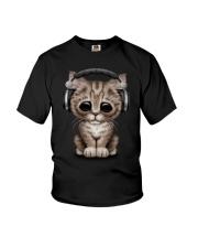 Cat Cute DJ Youth T-Shirt thumbnail