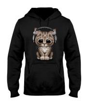 Cat Cute DJ Hooded Sweatshirt thumbnail