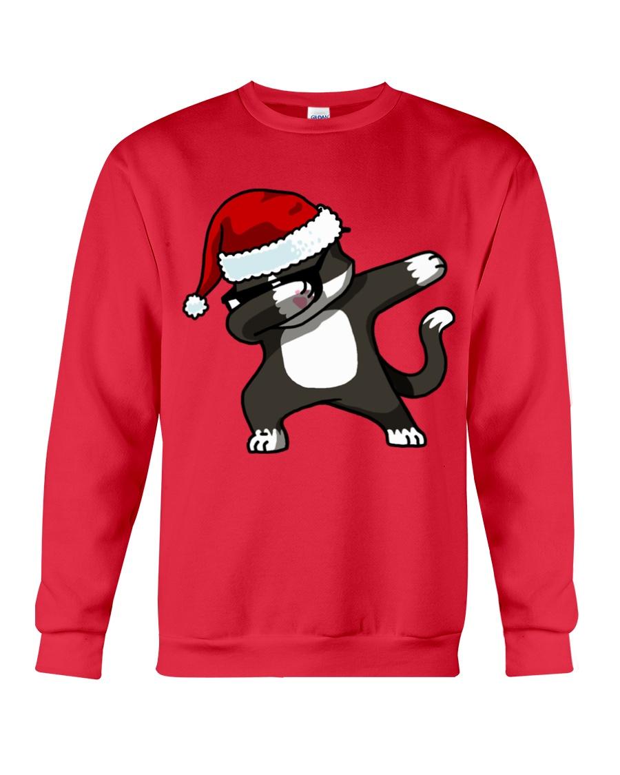 Gift Christmas Cat T-shirt Crewneck Sweatshirt