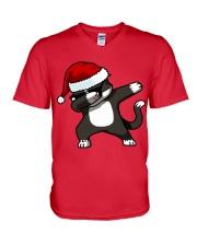 Gift Christmas Cat T-shirt V-Neck T-Shirt thumbnail