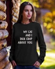 Cat Crewneck Sweatshirt lifestyle-unisex-sweatshirt-front-7