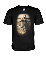 Cat V-Neck T-Shirt thumbnail
