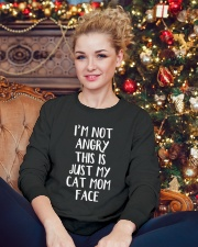 Cat Mom Crewneck Sweatshirt lifestyle-holiday-sweater-front-2