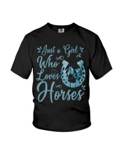 Just A Girl Who Loves Horses Youth T-Shirt thumbnail