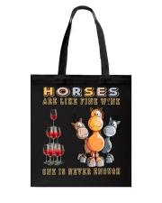 Horses Are Like Fine Wine Tote Bag thumbnail