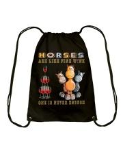 Horses Are Like Fine Wine Drawstring Bag thumbnail