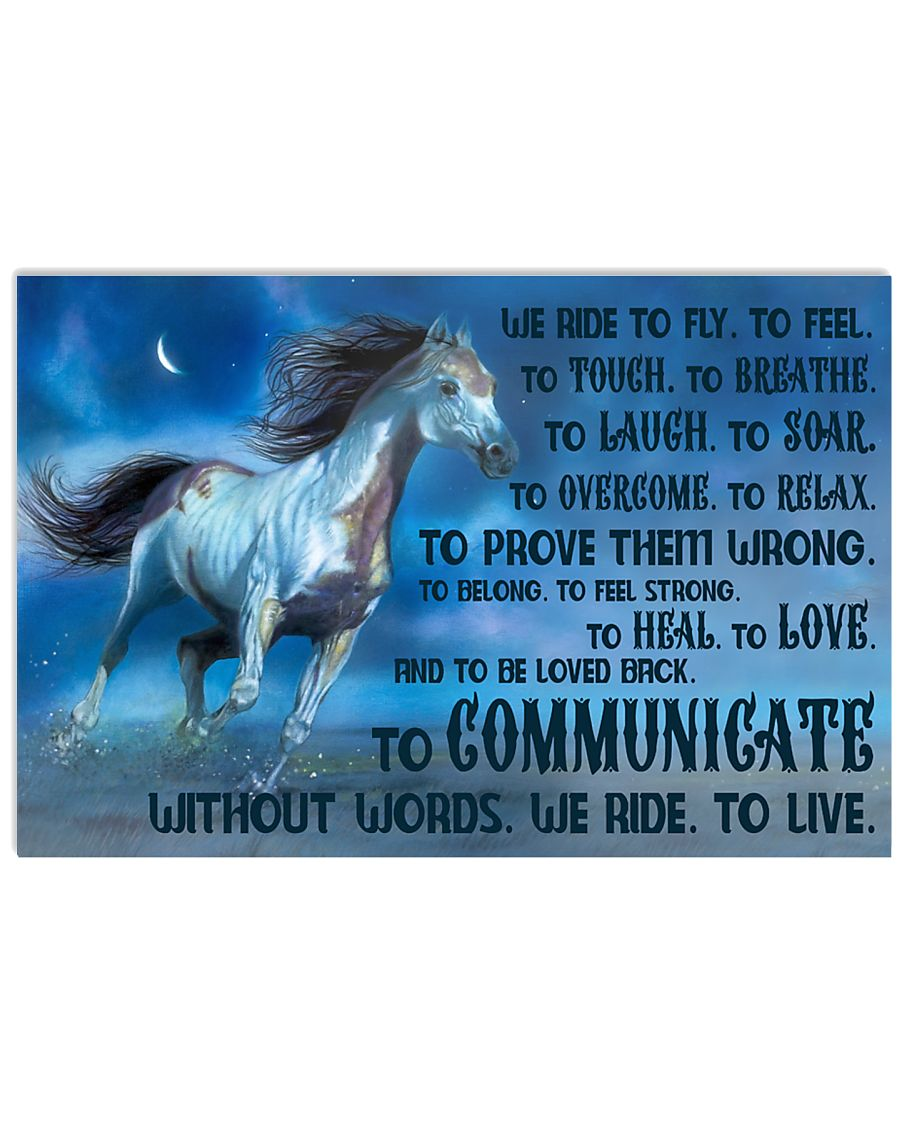 We Ride To Fly 17x11 Poster