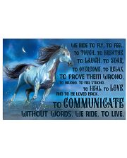 We Ride To Fly 17x11 Poster front