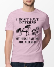 My Horse And Dog Are Allergic Classic T-Shirt lifestyle-mens-crewneck-front-13
