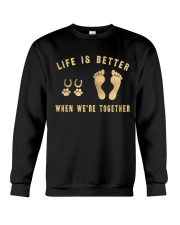 HR-L-MH-0402202-Life Is Better When Were Together Crewneck Sweatshirt thumbnail