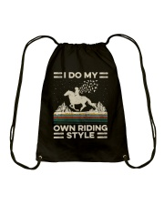 I Do My Own Riding Style Drawstring Bag tile