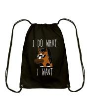 I Do What I Want Drawstring Bag thumbnail