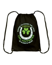 The Happiness Is Always Near Drawstring Bag thumbnail