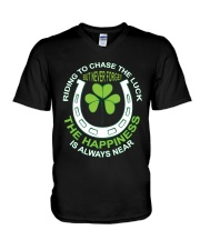 The Happiness Is Always Near V-Neck T-Shirt thumbnail