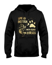 Dogs And Horses Hooded Sweatshirt front