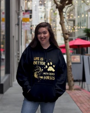 Dogs And Horses Hooded Sweatshirt lifestyle-unisex-hoodie-front-2