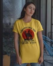 I Never Fall Off Classic T-Shirt apparel-classic-tshirt-lifestyle-08
